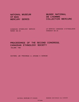 Proceedings of the second congress, Canadian Ethnology Society: Volume 2