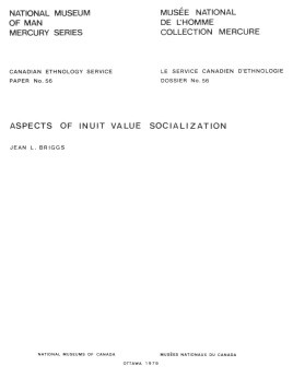 Aspects of Inuit value socialization