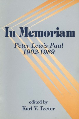 In memoriam: Peter Lewis Paul, 1902-1989