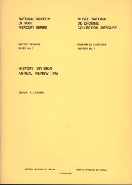History Division: annual review, 1974