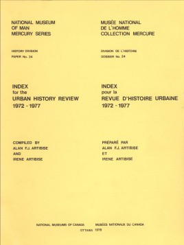 Index for the Urban History Review 1972-1977 / Index pour la revue d'histoire urbaine 1972-1977